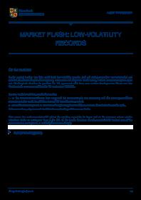 Edmond de Rothschild - Market Flash: Low-Volatility Records