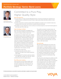 Voya - Committed to a Pure Play, Higher Quality Style