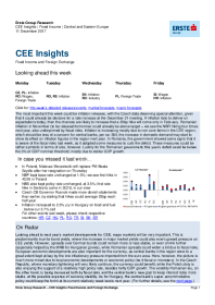 Erste Group - CEE Insights   Fixed Income   Central and Eastern Europe