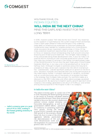 Alpha Research Selection - Will India be the next China?