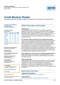 Erste Group - Political risks weigh on credit spreads