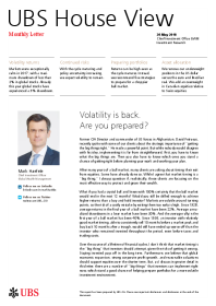 UBS - Volatility is back. Are you prepared?