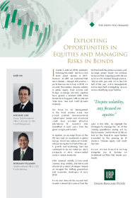 UBP - Exploiting Opportunities in Equities and Managing Risks in Bonds
