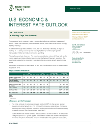 Northern Trust - US Economic & Interest rate outlook