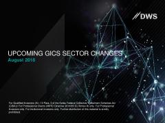 Deutsche AWM - Upcoming GICS sector changes