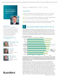 BlackRock - Earnings strength bodes well for stocks