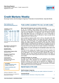 Erste Group - Trade conflict: escalation? For now, not with credits