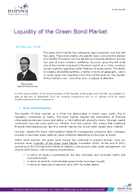 Mirova - Liquidity of the Green Bond Market