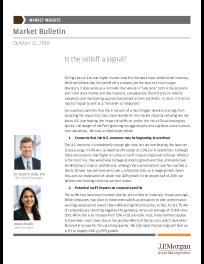 JP Morgan - Is the selloff a signal?