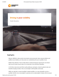 NN Investment Partners - Driving in poor visibility