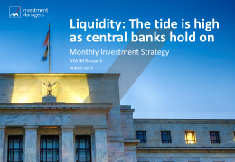 AXA - Liquidity: The tide is high as central banks hold on